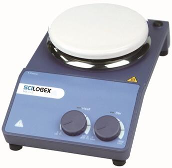 SCILOGEX MS-H-S Circular Analog Magnetic Hotplate Stirrer, ceramic plate