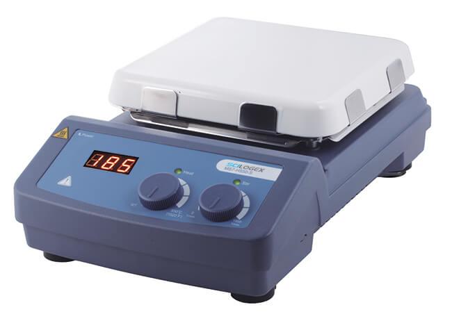 SCILOGEX MS7-H550-S LED Digital 7'' Square Magnetic Hotplate Stirrer, ceramic-glass plate